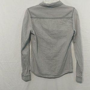 Tally Weijl Tops - Tally Weijl Button Down Shirt Faux Leather Accent!